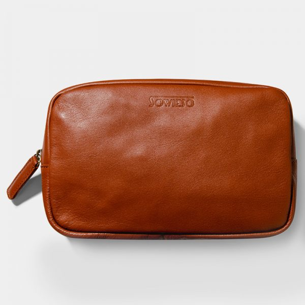 Oslo Cosmetic Bag Brown